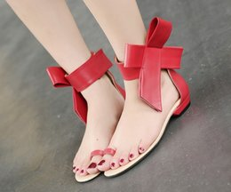 Wholesale Wedding party Pumps Shoes Fashion Buckle Thin Pointed Toe Lady Microfiber Leather Butterfly knot flower flat heel clip toe Shoes Size