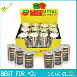 Hot sale 30mm Creative Metal hand Metal Grinder Herb Tabacco Crusher Grinder tobacco metal smoking 3 layers mini grinder