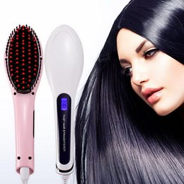 red black hair straightener comb brush hair straightener flat iron PLANCHA PELO Capelli professional LCD equipment hair comb
