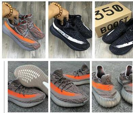 Free Shipping New Arrival 350 Boost V2 Kanye West Running Shoes For Men Sneakers Sply Season Black Grey