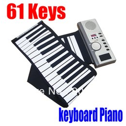 2017 enrollar 61 teclas ¡¡¡Gran descuento!!! El teclado electrónico portable del teclado electrónico de Roll-Up de MIDI de las llaves de 61 órganos electrónicos portables libera el envío enrollar 61 teclas promoción