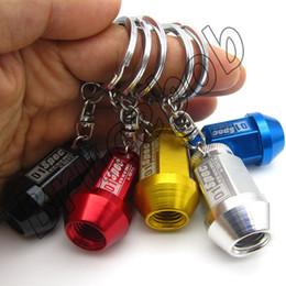5 colors Auto racing sports D1 Spec vehicle wheel hub screw bolts keychain keyring key ring chain