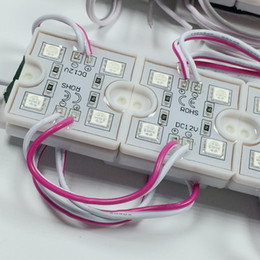 20pcs lot Square Led Module 5050 4 SMD LED 12V DC Advertising Decoration lights For Sign Waterproof IP65 Pure White Red Color