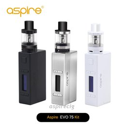 Wholesale Aspire Evo75 Full Kit Original Include Two Vaping Heavy Hitters NX75 Z Mod Atlantis EVO Tank Can Customizable Firing Button Profiles