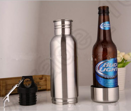 Wholesale Beer Bottle Armour Koozie Keeper Stainless Steel keeper Armour Bottle Koozie Insulator with Bottle Opener OOA611