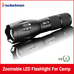 Wholesale Best High Power Ultra E17 Lumen Flashlight Led CREE T6 XM L Camping Torch Flash Light Zoomable Waterproof Flashlights