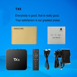 Wholesale TX5 Android Smart TV BOX Amlogic S905X G G HD K Fully KODI Quad core Media Player Set Top TV Box Google Play Store download