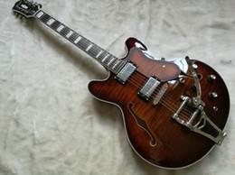 Guitar Semi Hollow Electric Guitar --- dark red