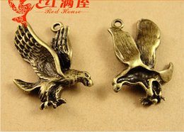 Wholesale A3652 MM Antique Bronze The Eagle Pendant charm beads alloy parts DIY handmade jewelry animal charms bird charms
