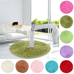 Wholesale New cm Fluffy Round Foam Rug Non Slip Shower Bedroom Mat Door Floor Carpet Round Plish Rugs and Carpets mat for toilet E5M1 order lt no t