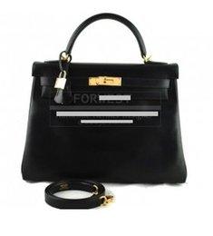 Wholesale Black cm Box Calf Keli Retourne Bag Best quality