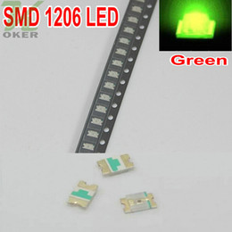 3000pcs reel SMD 1206 (3216)Jade green LED Lamp Diodes Ultra Bright SMD 3216 1206 SMD LED Free shipping