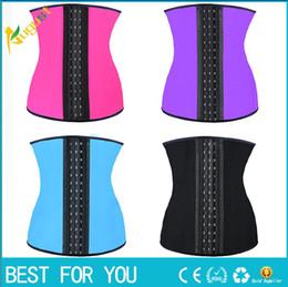 Wholesale 9 steel bone Latex Rubber corset body shaper Waist Trainer training corsets Corset Latex Corset Latex Waist Cincher Slimming Shapewear