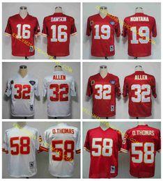 Wholesale 100 Stitiched Kansas City jerseys Chiefs Len Dawson Joe Montana Marcus Allen Derrick Thomas Throwback for men jerseys real photo
