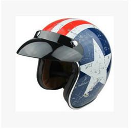 2016 New Captain America flag TORC Harley style motorcycle helmet ABS Prince helmet T50 Team USA Motorcycle helmets