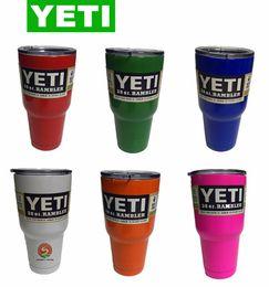Wholesale YETI oz Stainless Tumbler oz oz oz colors Rambler Cups Yeti Coolers Cup Yeti Sports Mugs Large Capacity Stainless Steel Travel Mu