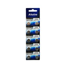 Wholesale 10pcs card retailing package AG13 G13 LR44 A76 v alkaline button cell battery with capacity mAh in mm mm dimension