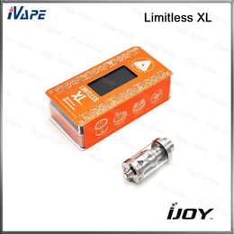 Wholesale 100 Original iJoy Limitless XL RTA Tank ml Sub Ohm Atomizer With ohm Light up Chip Coil Deck System Rebuildable and Swappable