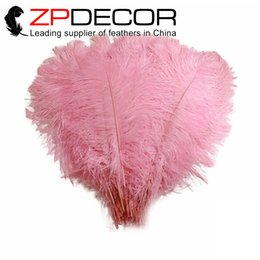 Wholesale ZPDECOR Factory Exporting cm inch Fluffy Baby Pink Dyed Wedding Decoration Ostrich Feathers for Sale