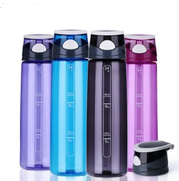 Wholesale 700ML Water Bottle Tritan Plastic Sport Water Bottles My Bottle Mountain Bike Bicycle Cycling Sports Tea Tumbler With Straw Cup