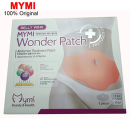 Wholesale 5Pcs MYMI Wonder Slimming Patch Belly Abdomen Weight Loss Fat burning Slim Patch Cream Navel Stick Efficacy Strong C067