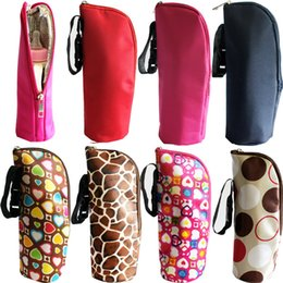 Wholesale Baby Multicolor Thermal Feeding Bottle Warmers Mummy Tote Bag Hang Stroller cloth aluminium film Freeshipping