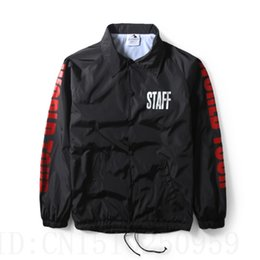 Wholesale 2016 Justin bieber PURPOSE TOUR STAFF Oversize Fear Of God Mens Jacket men clothing red letters on sleeves kanye west coat s xl