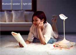 Wholesale HiFi Bluetooth speaker led light the creative table lamp led light can answer phone and listen music suit for IOS and android phone