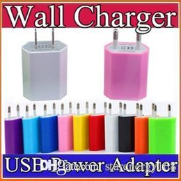 Wholesale Best price white colorful EU US USB Wall Home Charger AC Adapter EU US Plug EU usb charger for For Cellphone Iphone S S SE S Galaxy C SC