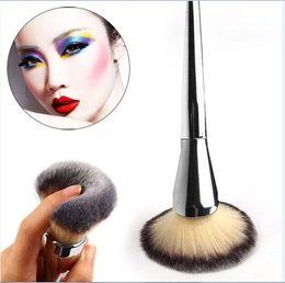 Single Big Universal Makeup Brush Blush Face Powder Loose Powder Foundation Silver Color Handle Cosmetic Large Make Up Brush OPP Bag Brushes