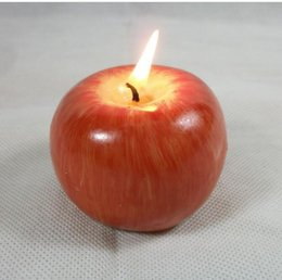 Wholesale NEW Fruit candle Vintage Apple candle home docor romantic party decorations Apple scented candles Birthday Christmas wedding decor candles