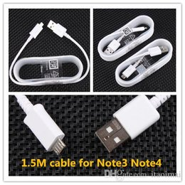 Micro Usb 1.5m 5ft Charging Data Sync Cables USB 3.0 Data Cable Charge Cord Cable For Samsung Note4 Note3 S7 S5