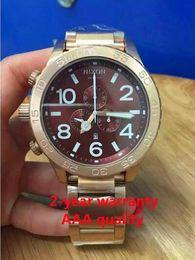 Free shipping New CHRONO NIXO 51-30 Chrono All Rose Gold Chronograph Mens Watch A083 A083-120 Watch