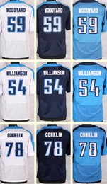 Wholesale 2016 New Men s Wesley Woodyard Avery Williamson Jack Conklin white Blue Light Blue Top Quality Elite jerseys Drop Shipping