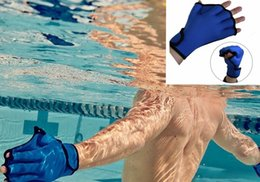 Wholesale Water Resistance Fins Hand Glove Training Fingerless Webbed Flippers Paddle Swim Gloves Training Aqua Fit Webbed Gloves
