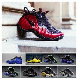 Wholesale 2016 Foamposites One Galaxy Optic Yellow Wu Tang University Red Air Penny Hardaway Basketball Shoes For Men Women Foamposite Shoes