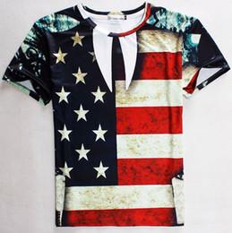tshirt Newest Men women 3d t shirt fashion print USA flag Stars casual t-shirt striped Tshirt tops 1802