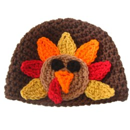 Novelty Turkey Beanie Hat,Handmade Knit Crochet Baby Boy Girl Thanksgiving Day Costume Hat,Newborn Gifts,Toddler Photography Prop