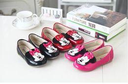 Wholesale Hot girl casual boat shoes soft flat shoes slip on leisure shoes Korea fashion mickey head beautiful girl dress shoes