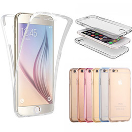 Smart Touch Screen Sensitivity Without Opening Phone Cases For Apple iPhone 7 7Plus 6 6S 6 6S Plus 360 Degree Soft Clear Phone Cover
