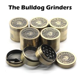 Wholesale The Bulldog Grinders Herb Grinders Piece Herb Spice Crusher Gold Herb Mill mm Diameter High Quality Metal Grinders