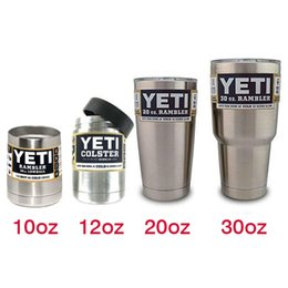 Wholesale YETI Tumbler oz oz oz oz Clear Lid Rambler Cups for Yeti Coolers Cup Sports Coffee Mugs Large Capacity Stainless Steel Mug