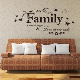 New Family flower butterfly Wall Stickers Art DIY PVC Decorations Wall Decals Home Decors Wall sticker