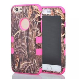 Wholesale for iphone Camo Mossy Hybrid shockproof hard Phone Case grass rose