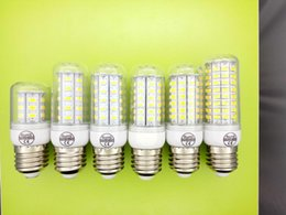 LED Light Warm White E27 LED Bulbs 7W 9W 12W 15W 3000 Lumen Cree SMD 5730 With Cover B22 Led lights Corn Lighting