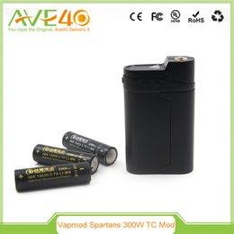 Wholesale 100 Authentic VAPMOD W TC Mod Spartans w Temperature Control Box Mod Manufacturer Box Mod DHL