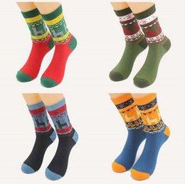 Wholesale Unisex mens womens Cotton Socks men s christmas cotton socks holiday cartoon deer short tube sock big size new year festival socks