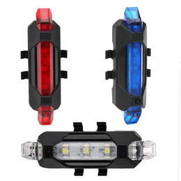 Portable Rechargeable LED USB Cycling Bike Tail Light Taillight MTB Safety Warning Bicycle Rear Seat Light Lamp Bycicle Light