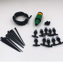 10M 4 7mm hose 10 pcs mist sprinkler Outdoor Garden Misting Cooling System Mist Nozzle Sprinkler water kits system