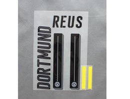2016-2017 Dortmund Home Away Custom soccer Nameset font Customize Name A-Z Number 0-9 Print Player nameset font Free shipping!